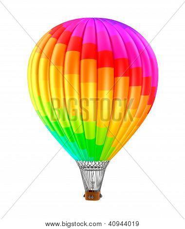 Balão colorfull isolado no fundo branco