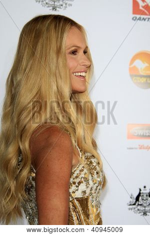 LOS ANGELES - JAN 12:  Elle Macpherson arrives at the 2013 G'Day USA Los Angeles Black Tie Gala at JW Marriott on January 12, 2013 in Los Angeles, CA..