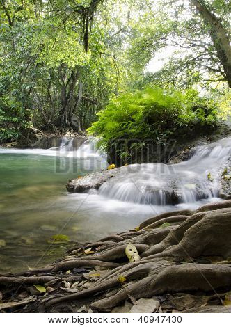 Jed Sao Noi Waterfall, Saraburi Province, Thailand.