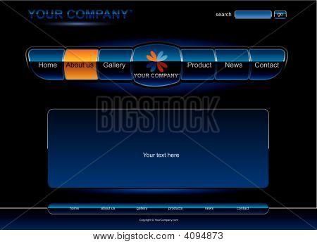 Blue Glossy Web Design