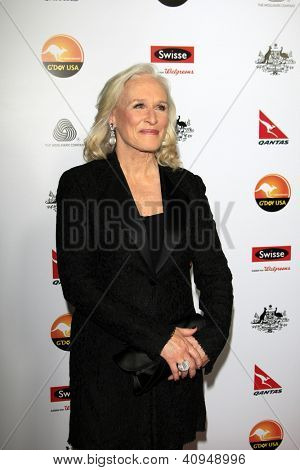 LOS ANGELES - JAN 12:  Glenn Close arrives at the 2013 G'Day USA Los Angeles Black Tie Gala at JW Marriott on January 12, 2013 in Los Angeles, CA..