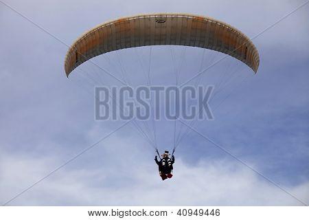CALDELAS, PORTUGAL - SEPTEMBER 22: Paragliding AbouaAboua Festival, in the north of Portugal, September 22, 2012, Caldelas, Portugal.