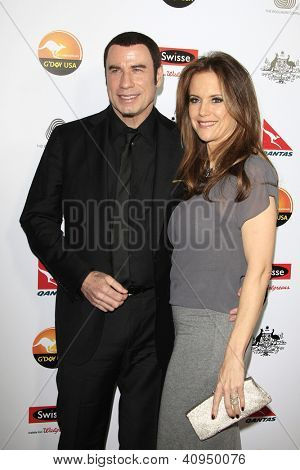 LOS ANGELES - JAN 12: John Travolta, Kelly Preston at the 2013 G'Day USA Los Angeles Black Tie Gala at JW Marriott on January 12, 2013 in Los Angeles, California