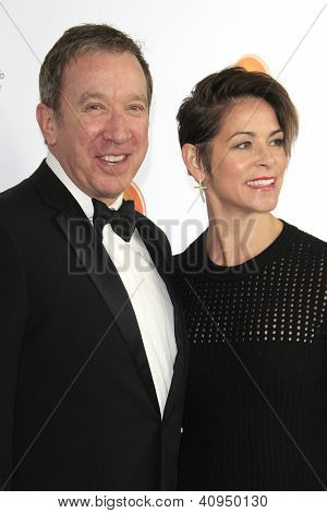 LOS ANGELES - JAN 12: Tim Allen, Jane Hajduk at the 2013 G'Day USA Los Angeles Black Tie Gala at JW Marriott on January 12, 2013 in Los Angeles, California