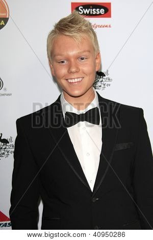 LOS ANGELES - JAN 12: Jack Vidgen at the 2013 G'Day USA Los Angeles Black Tie Gala at JW Marriott on January 12, 2013 in Los Angeles, California