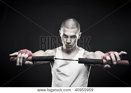 Fighter With Nunchaku