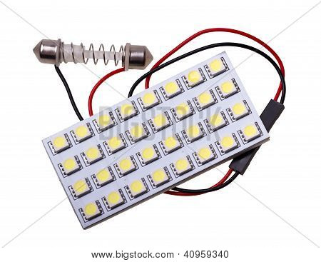 Led Panel Lighting To Replace The Bulb In Car Salon With 32 Leds