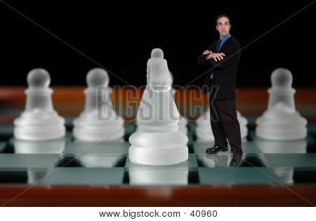 Businessman And Chess-7