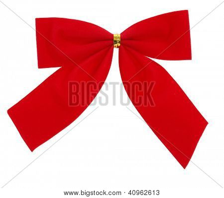 Red bow tie for decoration