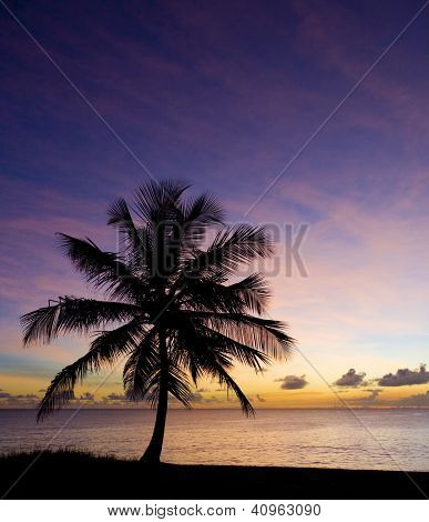 sunset over Caribbean Sea, Barbados