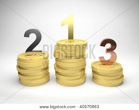 Winners On Gold Coins