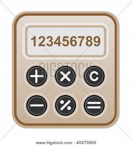 Brown calculator.