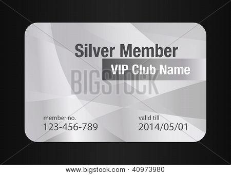 Cartão de prata Vip Club
