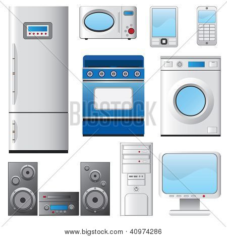 Set Of Housel Appliances.