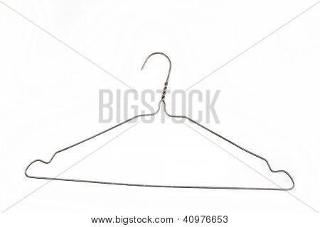 Coat hanger isolated on plain background