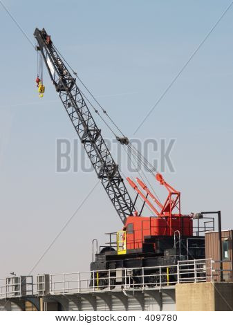 Crane On Dam