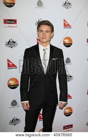 LOS ANGELES - JAN 12: Callan McAuliffe at the 2013 G'Day USA Los Angeles Black Tie Gala at JW Marriott on January 12, 2013 in Los Angeles, California