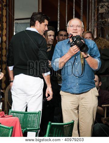 Actor Matthew Fox and photographer Peter Lindbergh
