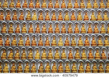 Wall Of Guan Yin Statues