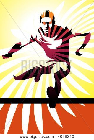 Hurdle Athlete