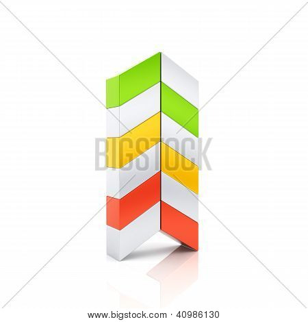 Abstract Color Business Arrow Symbol