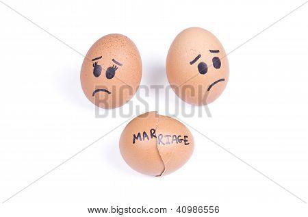 Broken Marriage Concept
