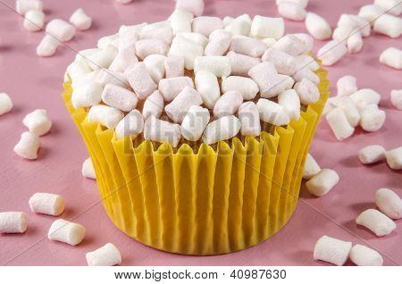 Vanilla Cupcake With Marshmellow