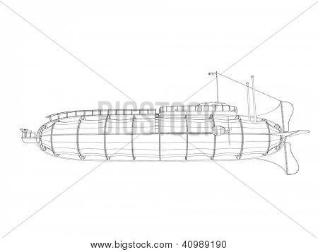 esboço de Zeppelin