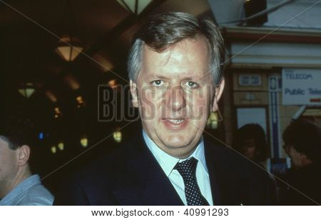 BLACKPOOL, ENGLAND - OCTOBER 10: Stephen Norris, Conservative party Member of Parliament for Epping Forest, attends the party conference on October 10, 1989 in Blackpool, Lancashire.