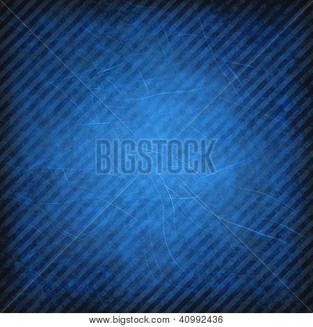 Blue grunge striped background or texture