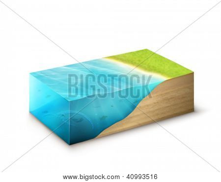 vector piece of Earth