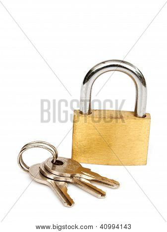 Brass Lock And Keys