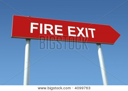 Fire Exit Signpost