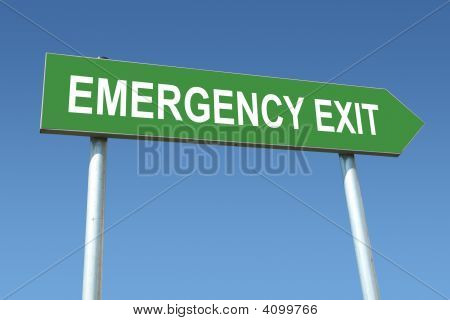 Emergency Exit Signpost