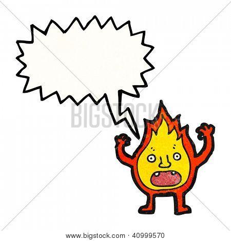 cartoon little fire sprite