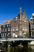 stock photo of sabbatical  - a shot of Amsterdam canals and typical houses - JPG
