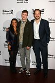 LOS ANGELES - JAN 10:  Danielle Nicolet, Johnny Pemberton, Kyle Bornheimer attends the ABC TCA Winte