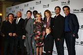LOS ANGELES - JAN 10:   Red Widow Cast and Producer attend the ABC TCA Winter 2013 Party at Langham