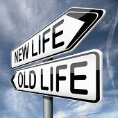 picture of fresh start  - old or new life fresh start or beginning choose change - JPG