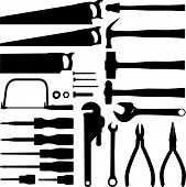foto of peen  - Collection of hand tool and hardware silhouettes - JPG