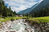 stock photo of genova  - The mountain river in Genova valley Natural Park Adamello Brenta - JPG
