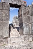 stock photo of trapezoid  - Sacsaywaman Inca ruins - JPG