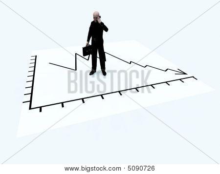 Credit Crises Businessmen On Paper