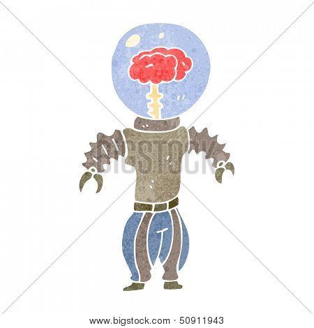 retro cartoon cyborg