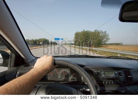 En coche