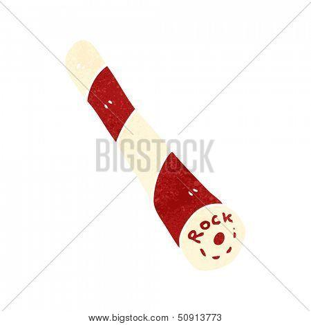 cartoon stick of rock candy