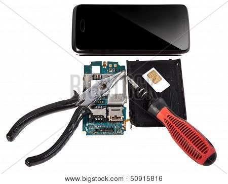Smartphone Repair An Isolated