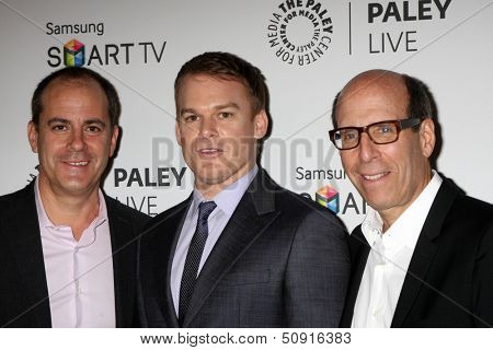 LOS ANGELES - SEP 12:  Michael C. Hall, Executives at the PaleyFest Fall Previews:  Fall Farwell-