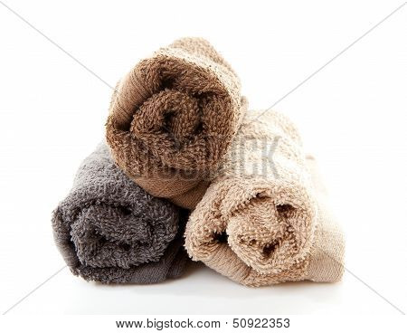 Pile Of Rolled Towels