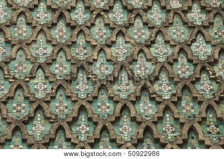 Wall Of The Bab El Mansour In Meknes
